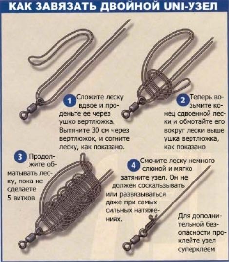 Как связать вертлюжки